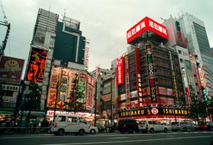 En gata i animestadsdelen Akihabara