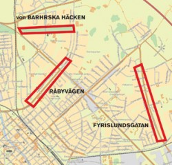 Råbyvägen, Fyrislundsgatan and von Bahrska Häcken are some of the areas where new housing projects are considered.