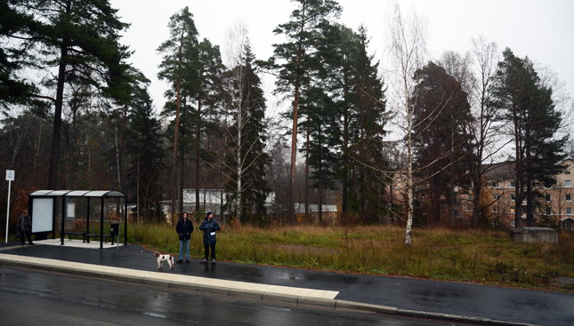 "Our top priority site is just beside a bus stop on the street ""Bernhard Jacobowskys väg"" in Ulleråker."