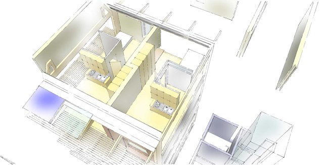 Apartment configuration proposal.